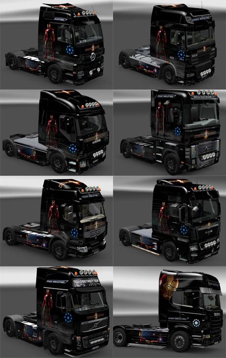 [ETS2] Iron Man Skin Pack for All Trucks Pack