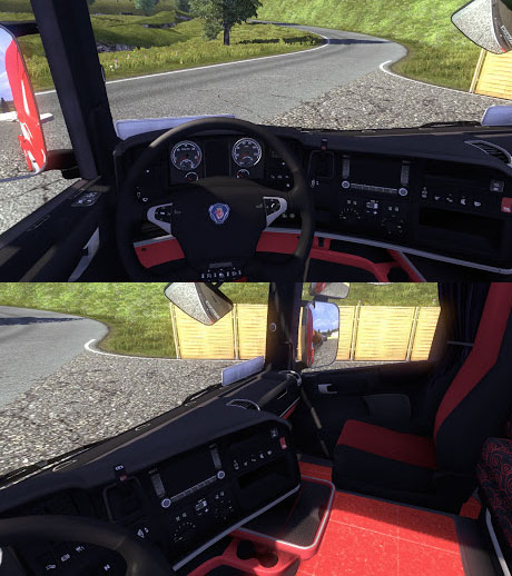 Scania-Black-Red-Interior