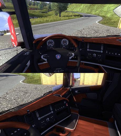 Interiors Scania-Wood-Interior