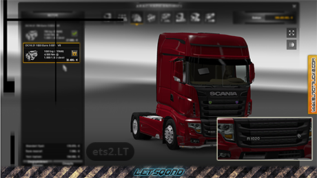 SCANIA R700 – 1020hp Engine mod | ETS 2 mods