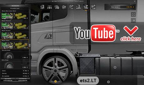 скачать мод на игру Euro Truck Simulator 2 на тюнинг - фото 9