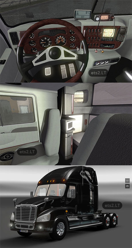 Freightliner Cascadia + Interior v1 0 | ETS 2 mods