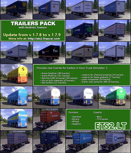 TRAILER PACK with Realistic Textures v.1.7.8-4