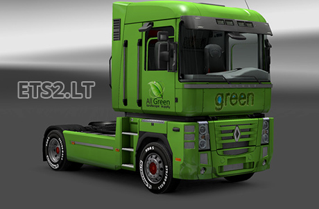 Renault-Magnum-All-Green-Skin