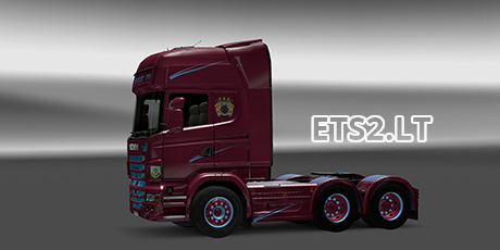 Scania burnley fc skin 1