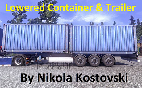 lowered-container-trailer