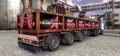 Weco-Feuerwerks-Trailer
