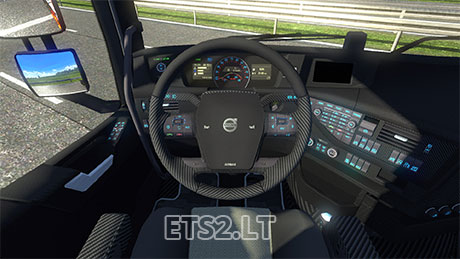 Carbon Fiber Interior for Volvo Fh16 2012 | ETS 2 mods