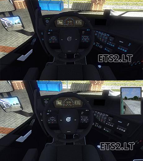 Volvo Truck Parts >> Dark Black Interior for Volvo Fh16 2012 | ETS 2 mods
