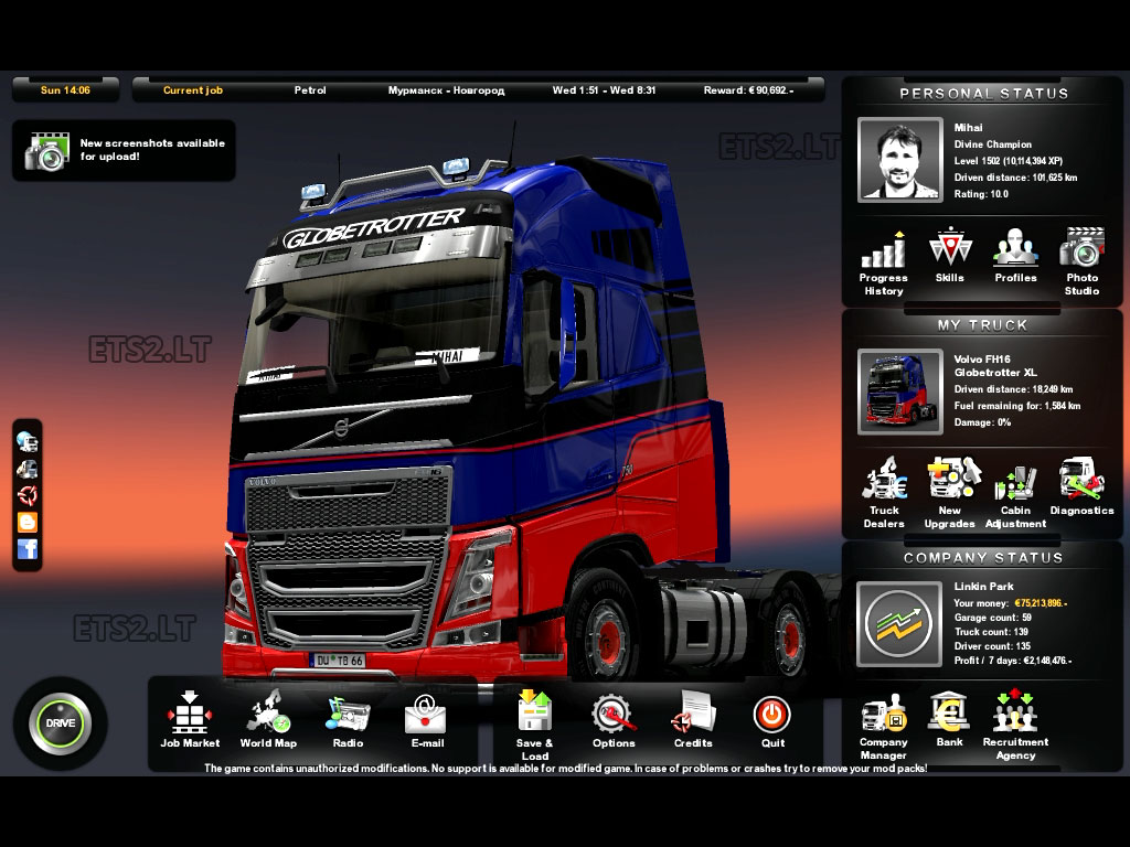 Image Result For Save Game Mod Euro Truck Simulator A