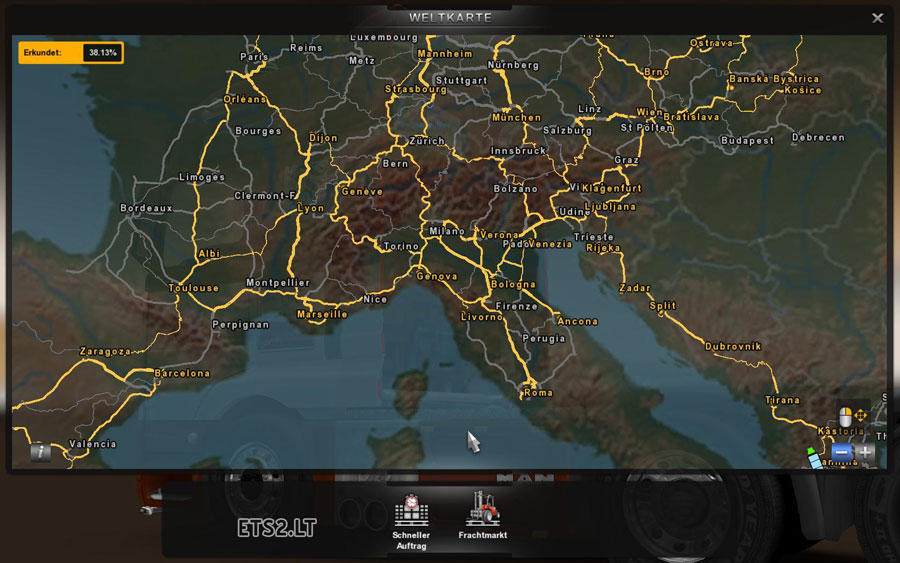 europa map in color ets 2 mods. Black Bedroom Furniture Sets. Home Design Ideas
