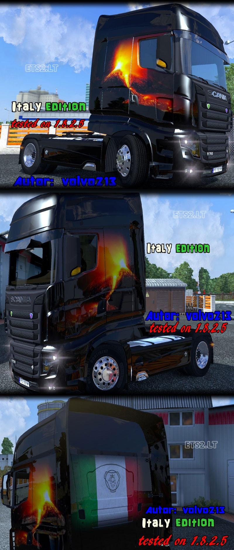Skins Scania-R-700-Italia-Edition-Skin