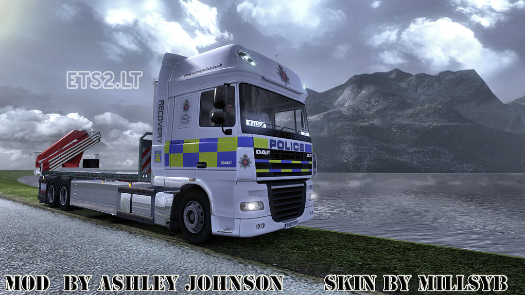 DAF Police Recovery Skin | ETS 2 mods