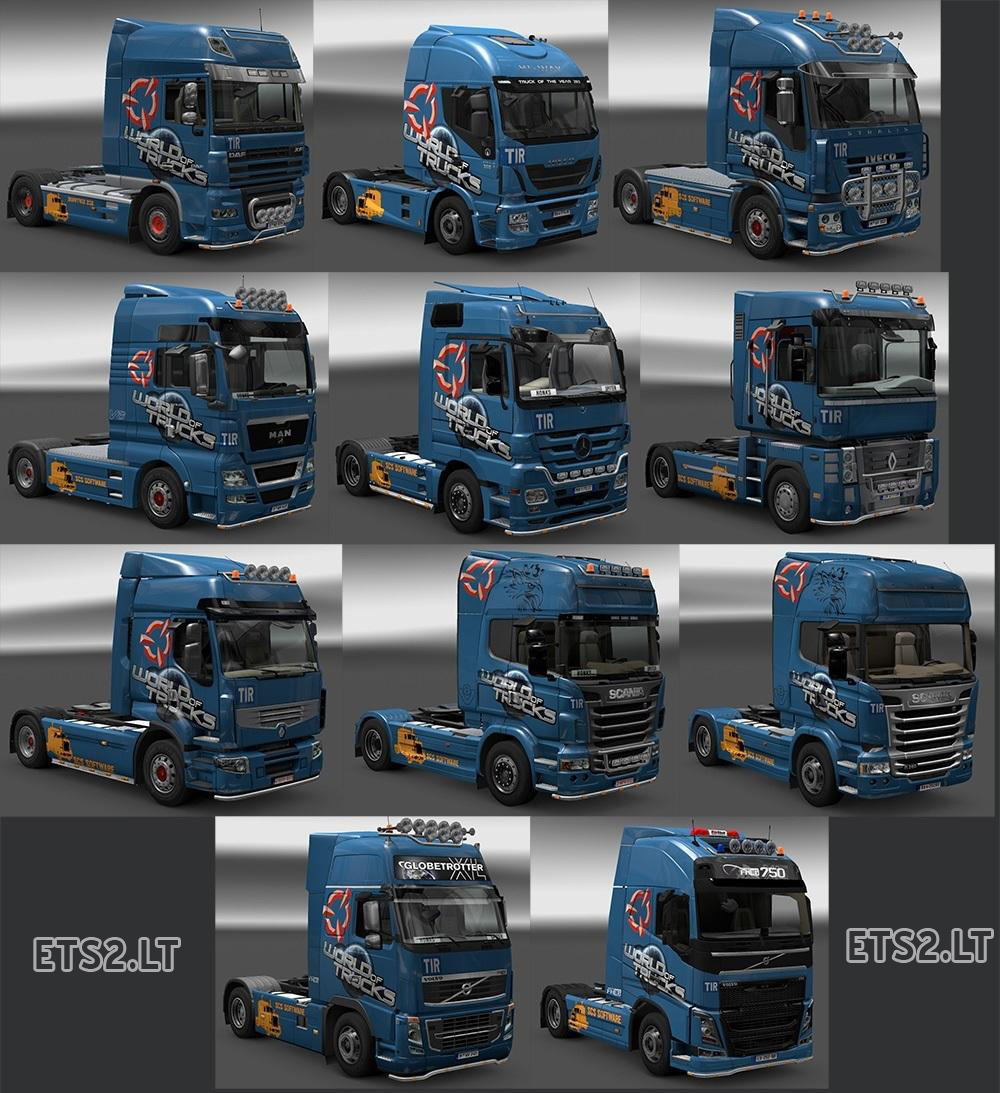 World Of Trucks Skin Pack | ETS 2 mods