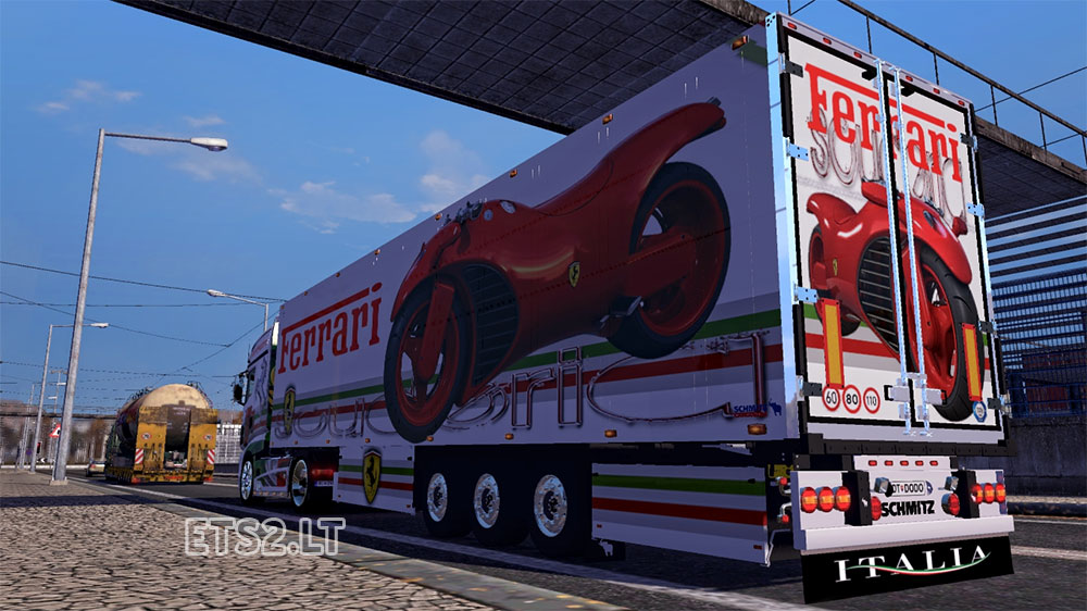 Skins Ferrari-trailer