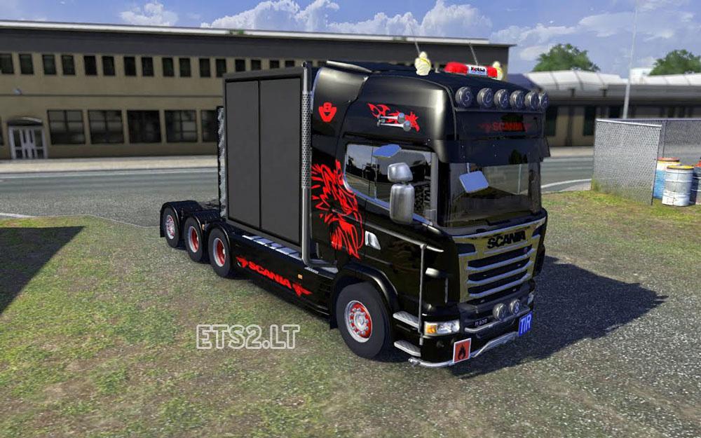 Scania custom v8 pipe sound