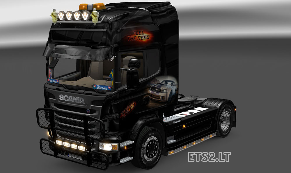 scania need for speed skin ets 2 mods. Black Bedroom Furniture Sets. Home Design Ideas