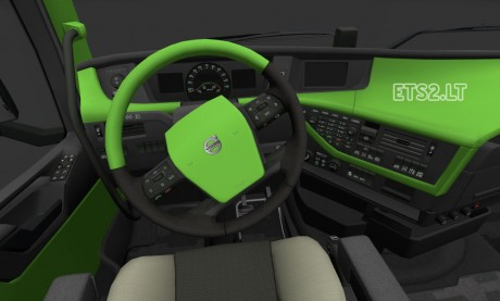 Volvo-FH-2012-Green-Interior-1