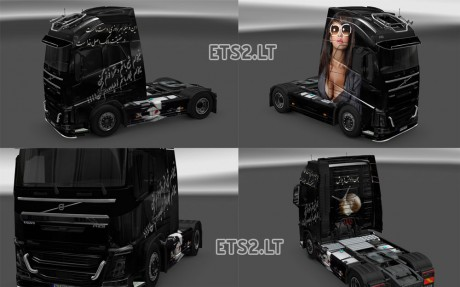 Volvo-FH-2013-Scratched-Black Girl-Persian-Skin