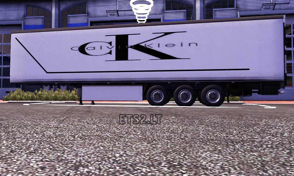 Calvin Klein trailer skin | ETS 2 mods