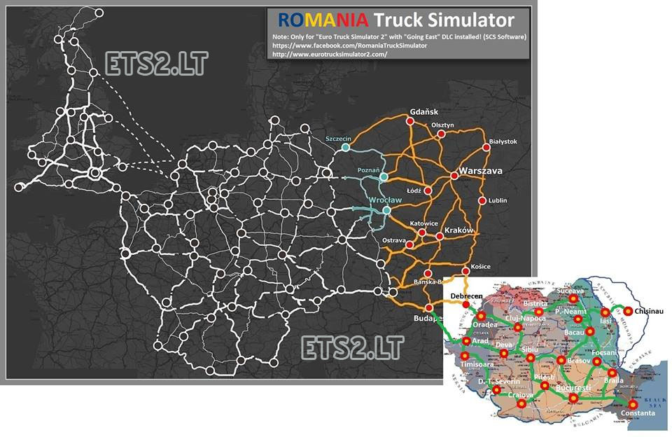Ets 2: romanian map v 1. 0 maps mod für eurotruck simulator 2.