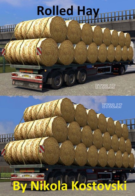 Rolled-Hay-Trailer