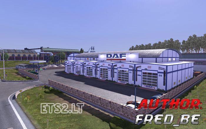 Garage custom daf ets 2 mods for Garage daf massy