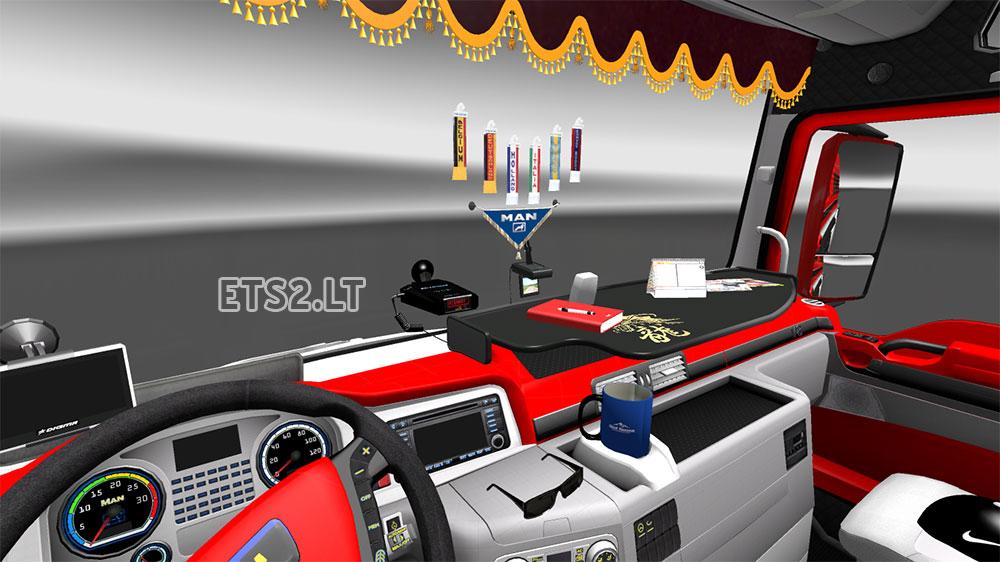 Truck Interior Accessories >> Man Interior Red Skin Accessories Ets 2 Mods