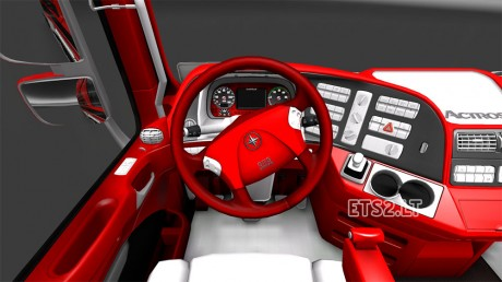 red-actros-interior