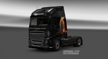 Volvo-FH-16 -Ghost-Rider-Skin-1
