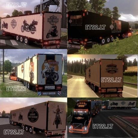 Volvo-VNL-Harley-Davidson-with-17-Harley-Trailers-2