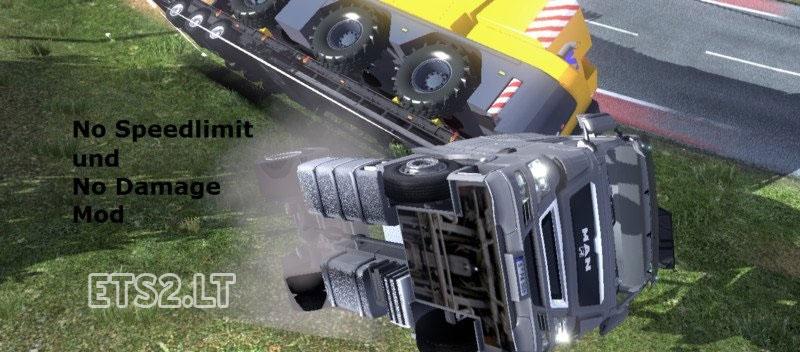 no speed limit | ETS 2 mods
