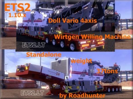 Doll-Vario-4-Axis-Trailer-with-Wirtgen-Willing-Machine
