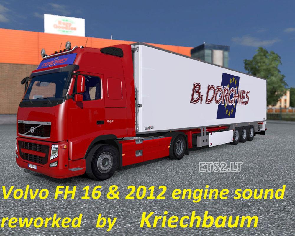 Volvo fh stock sound reworked ets 2 mods