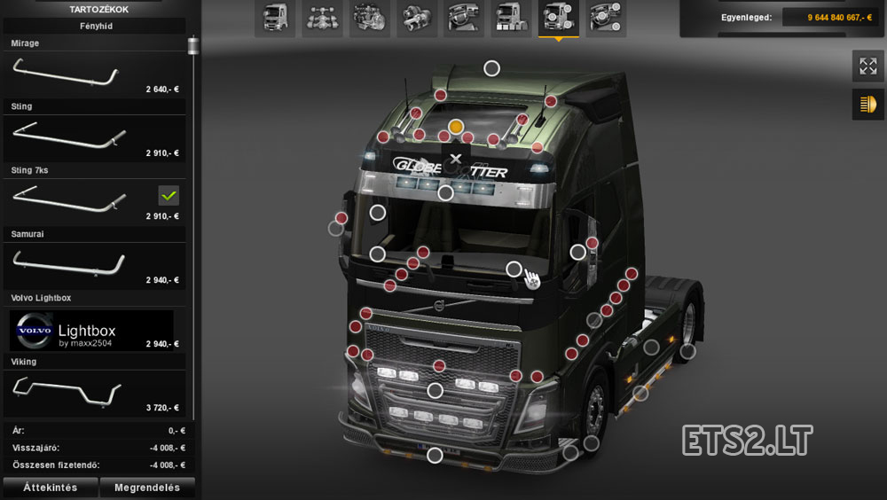 Volvo rb grill ets 2 mods click for details lightbot 2 5 answers