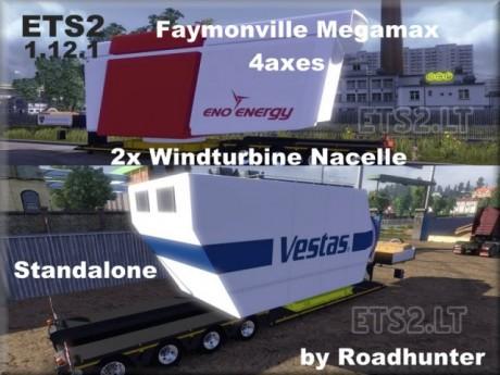 Faymonville-Megamax-4-axes-Trailer-with-Windturbine-Nacelle-v-1.0