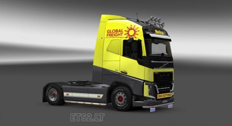 Volvo-FH-2012-Yellow-Grey-Skin-1