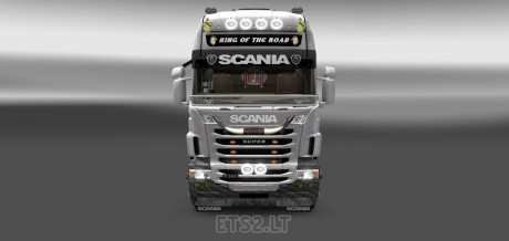 Carbon pearl skin for scania truck