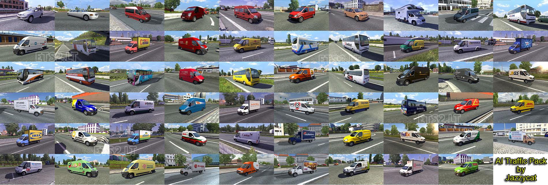 Ai Traffic Pack By Jazzycat V 1 7 Ets 2 Mods