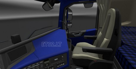 Volvo-FH-2012-Blue-Interior