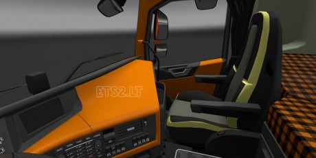 Volvo-FH-2012-Orange-Interior