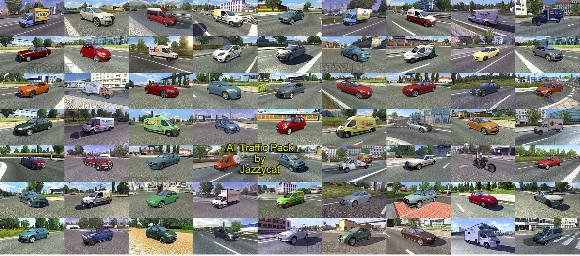 Ai Traffic Pack By Jazzycat V1 8 Ets 2 Mods