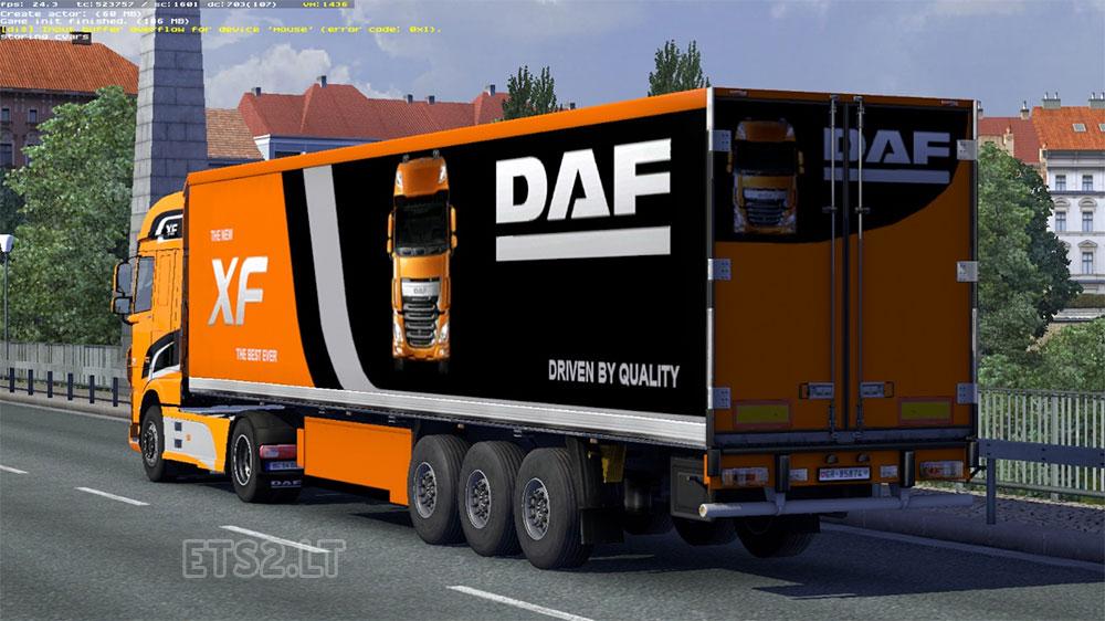 trailer daf xf e6 limited edition ets 2 mods. Black Bedroom Furniture Sets. Home Design Ideas