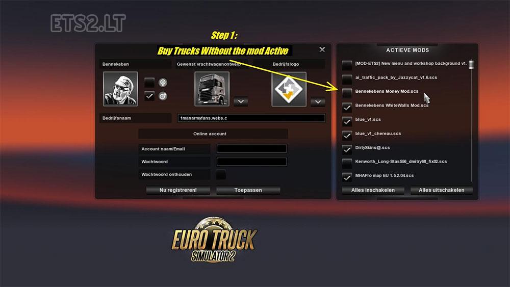 скачать моды для Euro Truck Simulator 2 на деньги 1000000000 через торрент - фото 9