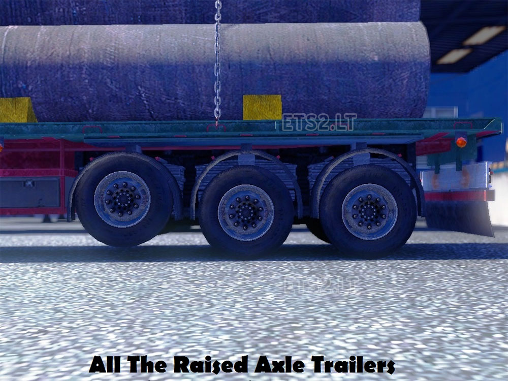 Wheel Trailer Axles : All the raised axle trailers ets mods