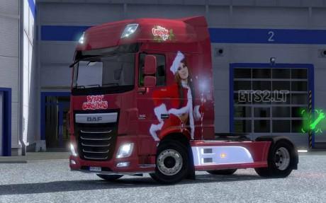 DAF XF Euro 6 Christmas Skin 1