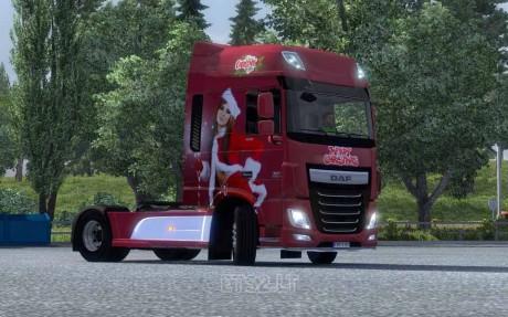 DAF XF Euro 6 Christmas Skin 2