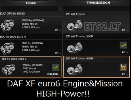 DAF-XF-Euro-6-High-Power-Engine-&-Transmission