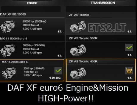 DAF-XF-Euro-6-High-Power-Engine-&-Transmission