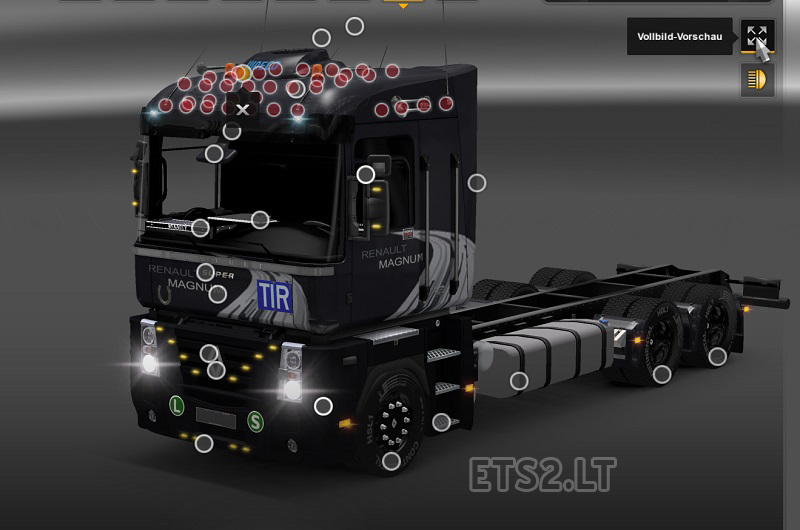 Euro Truck Simulator 2 моды Рено Магнум